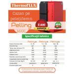 Cazan mixt pe peleti si lemn THERMOFLUX Pelling 35 - 35 kW